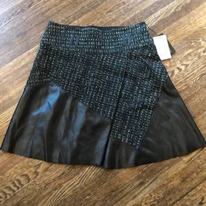 NWT Etcetera knit and faux leather skirt. Size 6